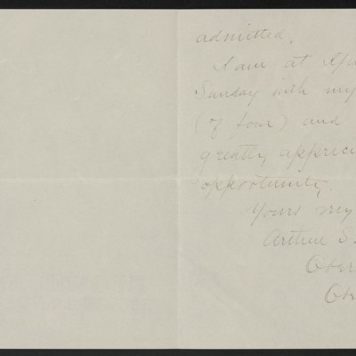 Letter from Arthur S. Kimball to Henry C. Frick, circa 26 August 1916 [page 2 of 2]
