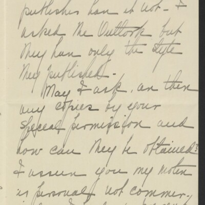 Letter from Elizabeth R. Meigs to Henry C. Frick, 26 April 1910 [page 2 of 4]
