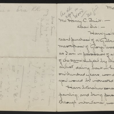 Letter from Ethel Ewen Smith to Henry C. Frick, 23 March 1919 [page 1 of 2]