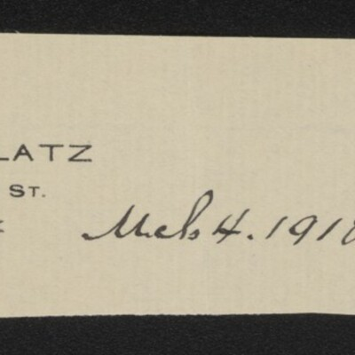 Fragment of stationery from Charles Glatz, 4 March 1918