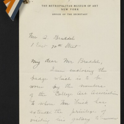 Letter from Edith R. Abbot to A. Braddel, [28] March 1918