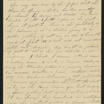 Letter from Charles S. Carstairs to [Henry Clay] Frick, 12 August 1906 [page 3 of 6]