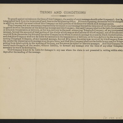 Cable from [Henry Clay] Frick to [Charles S. Carstairs], 30 August 1906 [back]
