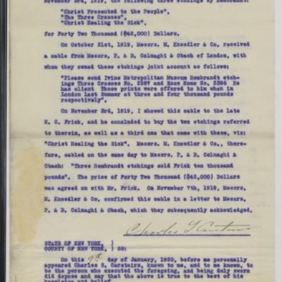 Affidavit of Charles S. Carstairs, 9 January 1920