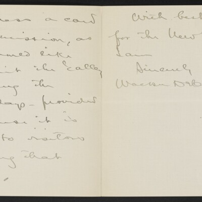 Letter from Walker D. Hines to [H.C.] Frick, 25 December 1918 [page 2 of 2]