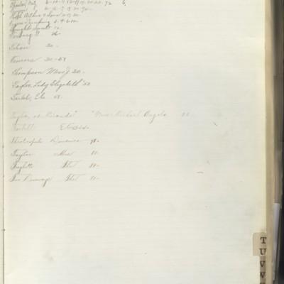 Bill Book No. 2, Index T