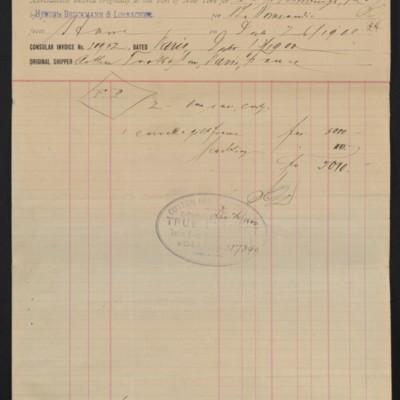 Customs invoice of Hensel, Bruckmann & Lorbacher, 26 December 1900