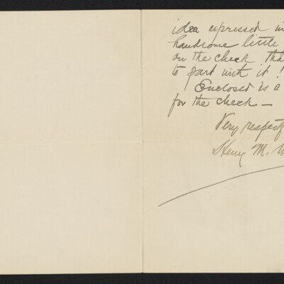 Letter from Henry M. Walcott to H.C. Frick 18 January 1905 [page 2 of 2]