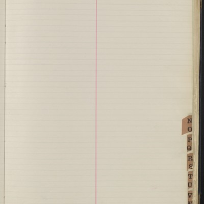 Bill Book No. 1, Index N