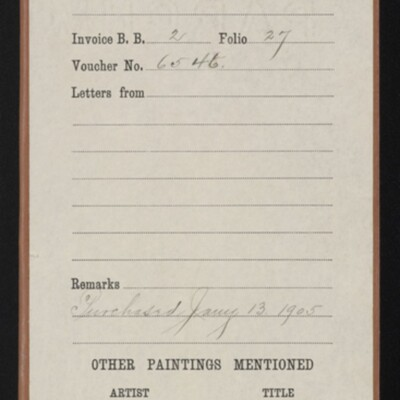 """Red envelope for Walcott's """"School's Out,"""" 1905"""