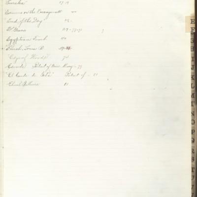 Bill Book No. 2, Index E