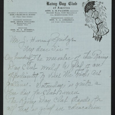 Letter from Edith M. Bridge to J. Howard Bridge, 3 February, 1918 [page 1 of 3]