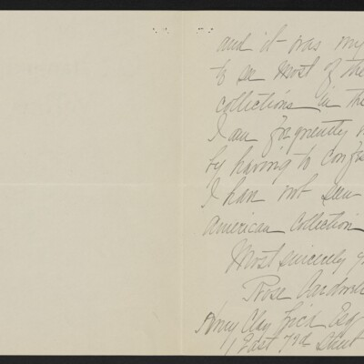 Letter from Rose Cardwell Hughes to Henry Clay Frick, 7 May 1918 [page 2 of 2]