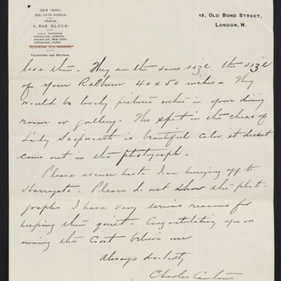 Letter from Charles S. Carstairs to [Henry Clay] Frick, 31 August 1906 [page 3 of 4]