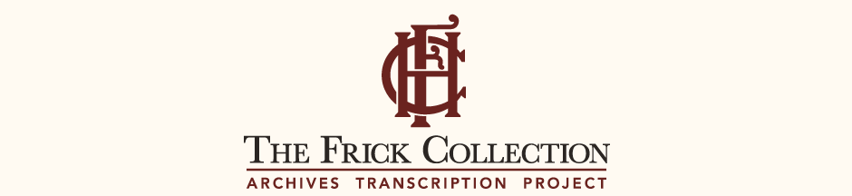 Frick: Archives Transcription Project